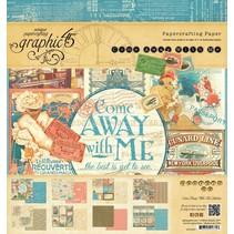 "Designerblock 20 x 20cm, von Graphic 45 ""Come Away With Me"""