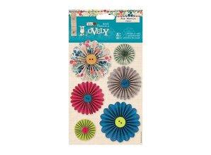 """Embellishments / Verzierungen Vejrhaner af designer papir """"Sy Lovely"""""""