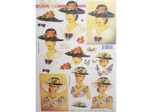 Bücher und CD / Magazines 3D Libro A5, donne con il cappello