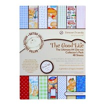 A4 decoupage ultimate pack (48pcs) - the good life Packed with lots of little extras to create more retro cards!