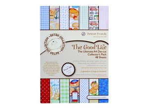 Forever Friends A4 decoupage ultimate pack (48pcs) - the good life Packed with lots of little extras to create more retro cards!