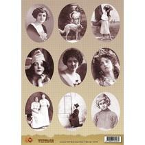 A4 Vintage Bilder Bogen