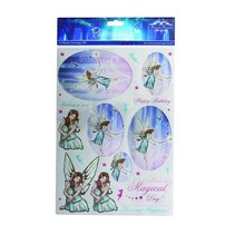A4 metallic die cut sheet, Topic: Fairies