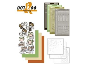 Sticker Etiqueta Craft Kit: Dot y Do, Boda