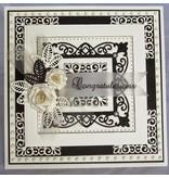 Creative Expressions Stempling og prægning stencil, New York Collection, ædle ramme rektangel