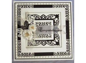 Creative Expressions Stampaggio e goffratura stencil, New York Collection, nobile cornice rettangolare