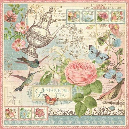 "Graphic 45 Designerpapier ""Botanical Tea"", 30,5 x 30,5cm"