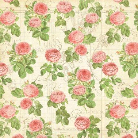"""Graphic 45 Designer Paper """"Botanisk Tea - Flora"""", 30,5 x 30,5 cm"""