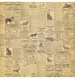 """Graphic 45 Papel de diseño """"lloviendo gatos y perros - gatos Meow"""", 30,5 x 30,5 cm"""