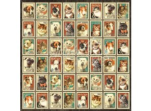 """Graphic 45 Designerpapier """"Raining Cats and Dogs -Mr. Whiskers"""", 30,5 x 30,5cm"""