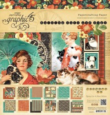 """Graphic 45 Designers bloccano """"Raining Cats and Dogs"""", 30,5 x 30,5 centimetri"""