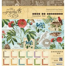"""Designere blok """"Tid til at blomstre - Kalender"""", 20 x 20 cm"""