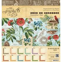 """Ontwerpers blokkeren """"Tijd om Flourish - Kalender"""", 20 x 20 cm"""