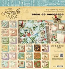 """Graphic 45 Designers bloccano """"Time Fiorisce"""", 20 x 20 cm"""