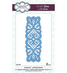 Creative Expressions Stamping and embossing stencil, Lattice Heart