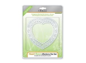 TONIC Tonic, stamping and embossing stencil, Indulgence Affections heart punch, 2 template