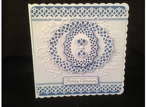TONIC Tonic, stamping and embossing stencil, Delicate latice, oval punch, 5 template