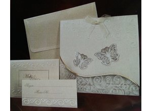 Exlusiv Bastelset: edele and filigräne butterfly cards