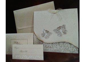 Exlusiv Bastelset: Edele e filigrane schede a farfalla