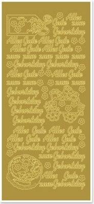 Sticker Ziersticker med tysk tekst: Tillykke med fødselsdagen