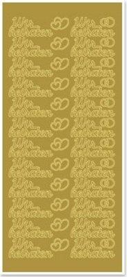 Sticker Ziersticker med tysk tekst: vi bliver gift