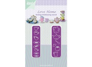 Joy!Crafts und JM Creation Stamping and embossing stencil, tableware