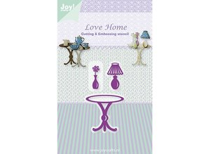 Joy!Crafts und JM Creation Punching and embossing template, table / Vase / Lamp
