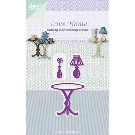 Joy!Crafts und JM Creation Stansning og prægning skabelon, bord / Vase / Lamp