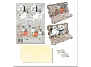 BASTELSETS / CRAFT KITS: Bastelset NoteCards with animal motifs cat