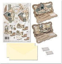 BASTELSETS / CRAFT KITS: NoteCards Bastelset con cani motivi animali