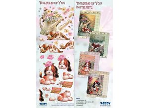 BASTELSETS / CRAFT KITS: Bastelset Thinking of you, dog motifs