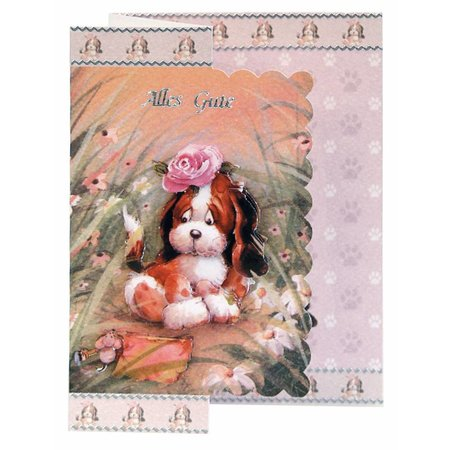 BASTELSETS / CRAFT KITS: Bastelset Thinking of you, dog motifs