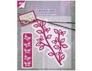 Joy!Crafts und JM Creation Stanz- und Prägeschablone, Zweig mit Schmetterlinge