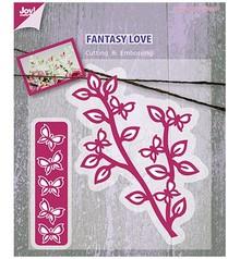 Joy!Crafts und JM Creation Taglio e goffratura stencil ramo con le farfalle