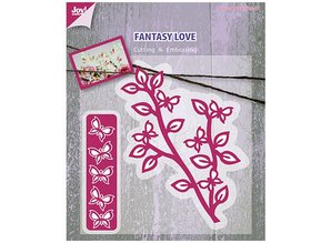 Joy!Crafts und JM Creation Cutting and embossing stencil branch with butterflies