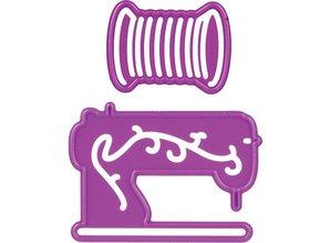Joy!Crafts und JM Creation Y el estampado de la plantilla, la máquina de coser e hilo