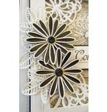 Creative Expressions Estampación y embutición de la plantilla, delicado margaritas Flores