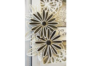 Creative Expressions Stamping and embossing stencil, Delicate Daisies Blossoms