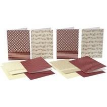 Liste kort med kuvert, kort størrelse 10,5x15 cm, 16