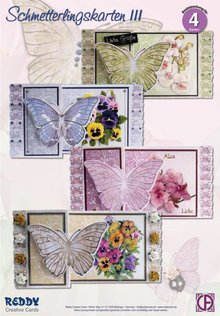 BASTELSETS / CRAFT KITS: Craft Kit Butterfly Lykønskningskort