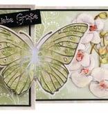 BASTELSETS / CRAFT KITS: Craft Kit Butterfly Lykønskningskort