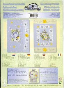 Exlusiv Card kit with lace and floral motifs Stickers