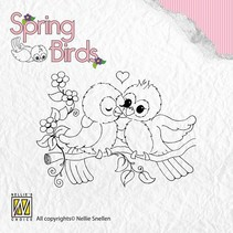 Transparent Stempel, Frühling Vögel