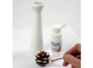Objekten zum Dekorieren / objects for decorating Lysestager lavet af lyst træ med en metalindsats for stearinlys