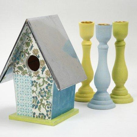 Objekten zum Dekorieren / objects for decorating Candeleros de madera - con un inserto de metal para velas con 2 cm de diámetro