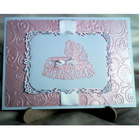 Tattered Lace Skæring og prægning stencils, Tattered Lace Cot
