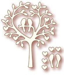 "Wild Rose Studio`s Wild Rose Studio`s stempling og prægning stencil ""Love Bird Tree"""