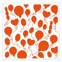 1 Prägefolder 12,3x12,3 cm, Ballons