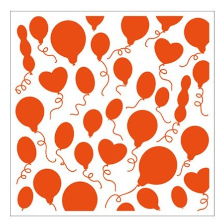 embossing Präge Folder 1 embossing folders 12,3x12,3 cm balloon