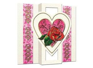 KARTEN und Zubehör / Cards 5 cards: Popup card with 1 heart, A6, dual card